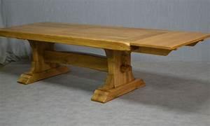 Table Bois Avec Rallonge : tables monastere meubles rustiques en bois massif ~ Teatrodelosmanantiales.com Idées de Décoration