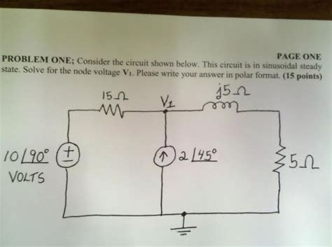 Solved Consider The Circuit Shown Below This