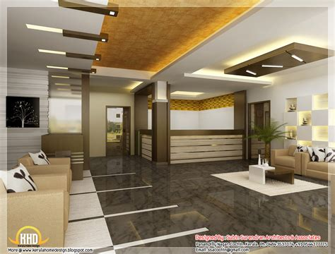 Beautiful 3D interior office designs - Kerala home design ...