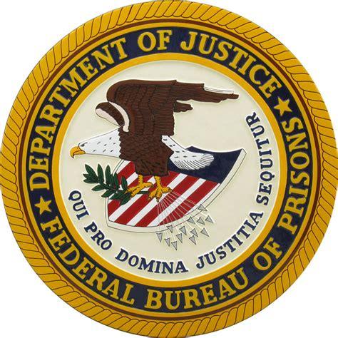 federal bureau of justice bureau of prisons logo 3d images