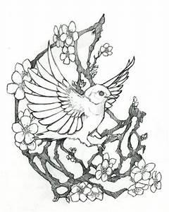 Dessin Fleur De Cerisier Japonais Noir Et Blanc : fleurs de cerisier tatouage ~ Melissatoandfro.com Idées de Décoration