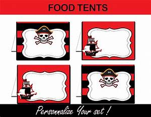 Pirate Boy Black & Red Birthday Party Package - Instant