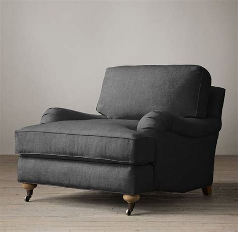 English Roll Arm Upholstered Chair  Fabric And Furniture