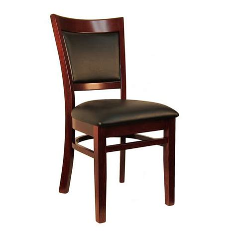 hd commercial seating  dining chair  upholstered vinyl  black vinyl seat dark