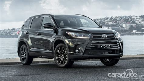 There's plenty of headroom, with enough shoulder room for three adults. Toyota Kluger Black Edition on sale from $55,970   CarAdvice
