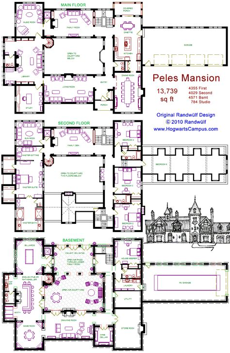 mansion floor plan peles mansion floor plan