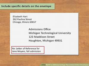how to address college recommendation envelopes 12 steps With letter envelope address