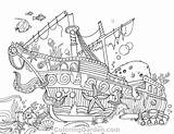 Coloring Ship Pages Sunken Adult Colouring Shipwreck Printable Coloringgarden Pdf Pirate Ships Sea Sheets Water Template Sketch Books Pirates Mermaid sketch template