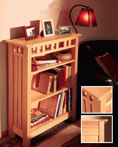 craftsman style bookcase plans  woodworking