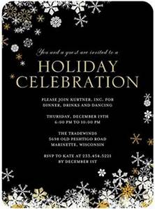 Party Glow Corporate Holiday Party Invitations in Lemon