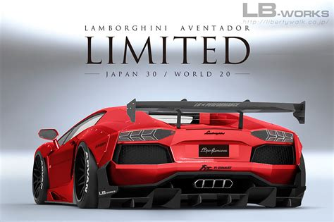 liberty walk limited lamborghini aventador kit  wilder