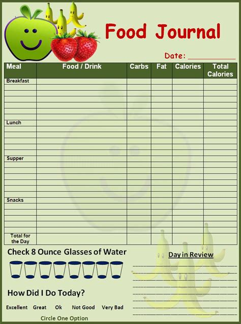 journal cuisine free diary templates 2016 calendar template 2016