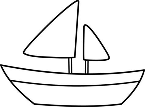 Outline Of Boat To Colour by Boat Coloring Pages Sailing Boat Outline Coloring Pages