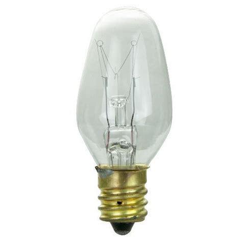 10 pk satco 15w 130v c7 l e12 candelabra base clear