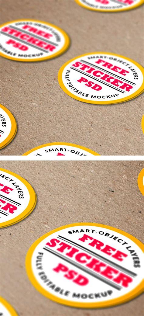 Sticker Mockup Free Free Stickers Psd Mockup Free Joomla Templates