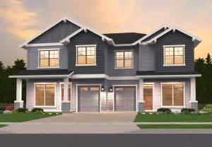 Craftsman Duplex  85162ms  Architectural Designs  House