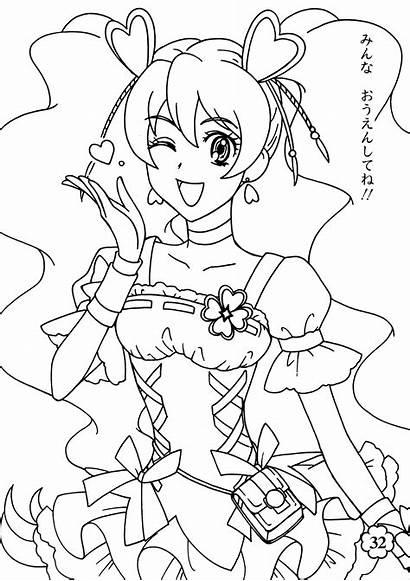 Cure Pretty Fresh Coloring Colorare Dibujos Manga
