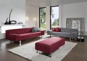 Canapé 4 Places Cuir : grand canap design en tissu ou cuir 4 places m madonna ~ Teatrodelosmanantiales.com Idées de Décoration
