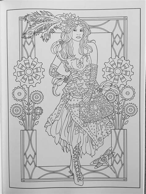 creative haven steunk fashions coloring book adult