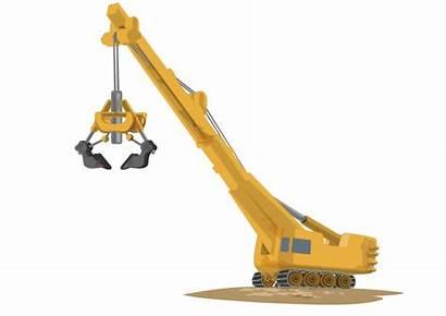 Crane Construction Clipart Cranes Arm Transparent Tower