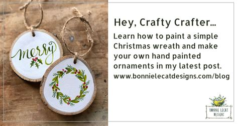 learn   paint   hand painted christmas wreath