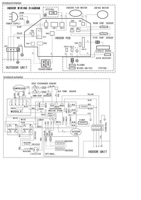 diagrama electrico split freyven 53fyq123a yoreparo