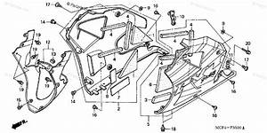 Honda Motorcycle 2000 Oem Parts Diagram For Lower Cowl