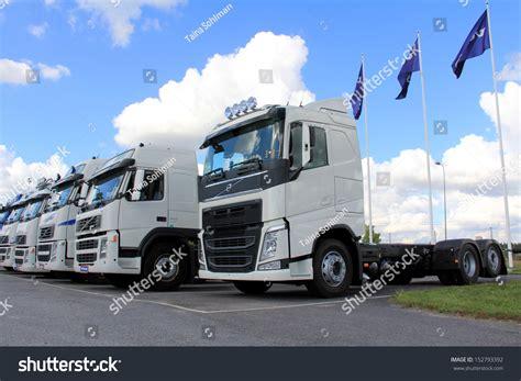 volvo group trucks lieto finland august 31 white volvo trucks on august