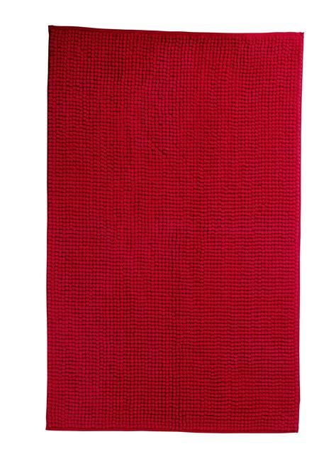 tappeto in microfibra bagno rosso per piastrelle sanitari complementi cose