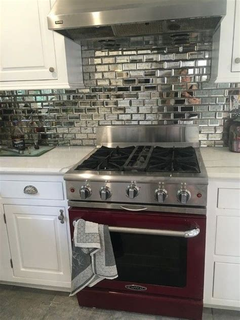 mirror tiles kitchen backsplash best 20 mirror backsplash ideas on antique 7531