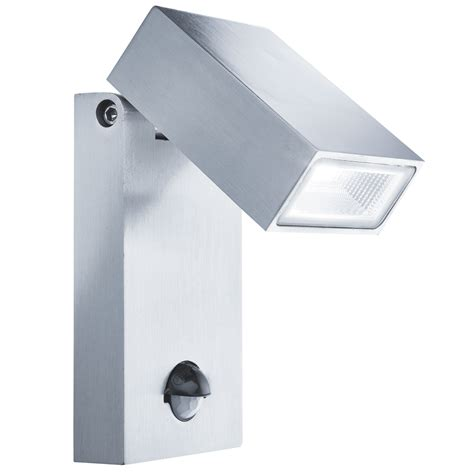 stainless steel ip44 led outdoor wall light with motion