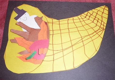 preschool crafts for thanksgiving cornucopia craft 1 438 | cornucopia