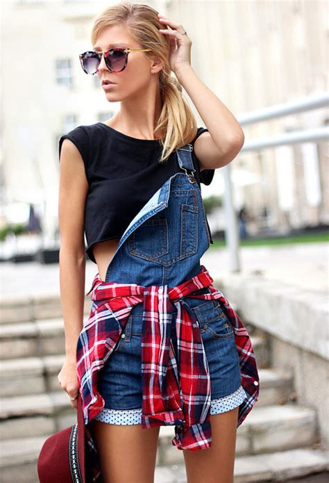 tartan shirts tied   waist