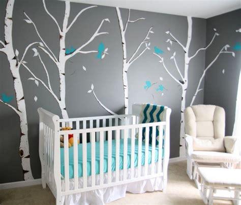 chambre bébé turquoise et gris decoration chambre bebe turquoise et gris