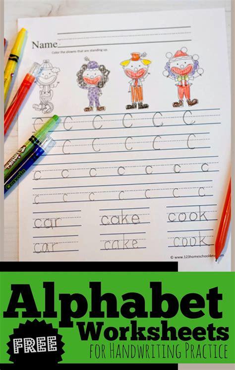 alphabet worksheets  handwriting practice