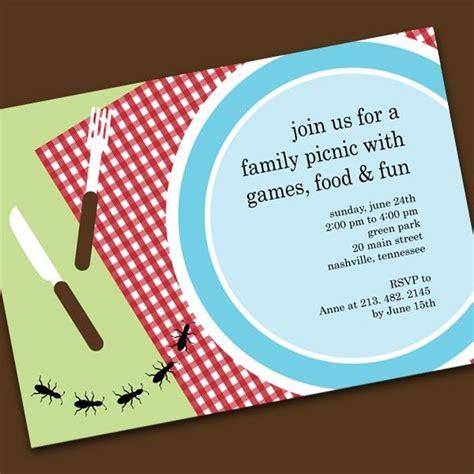 picnic invitations templates party picnic