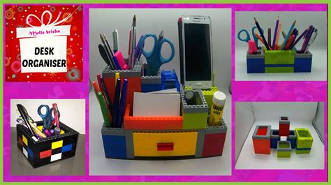 desk organiser   legos diy youtube