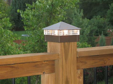deck lighting these solar deck post lights are a