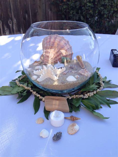 beach wedding hawaiian theme centerpieces seashells