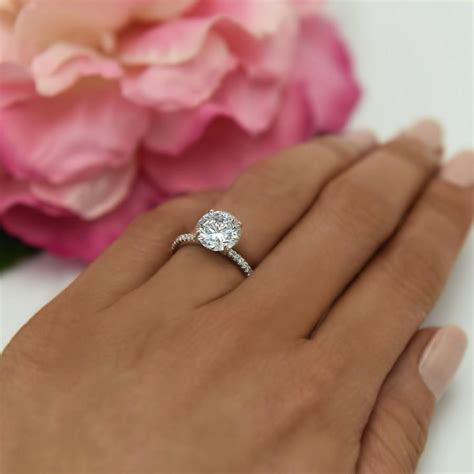 325 Ctw, 3 Ct Round Accented Solitaire Ring, Engagement. Sideways Wedding Rings. Fairy Rings. Shop Engagement Rings. Lock Wedding Rings. Zirconium Wedding Rings. 9 Stone Engagement Rings. Extreme Engagement Rings. 1ct Diamond Rings