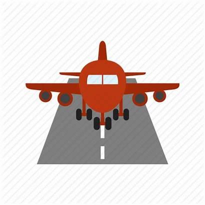 Icon Plane Runway Airport Landing Lights Aviation
