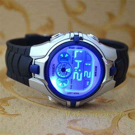 Blue Digital Watches for Kids Boys