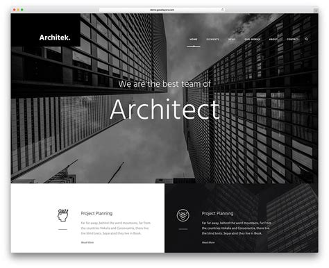 architecture responsive wordpress themes  architect