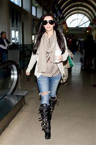 Kim Kardashian Winter Boots