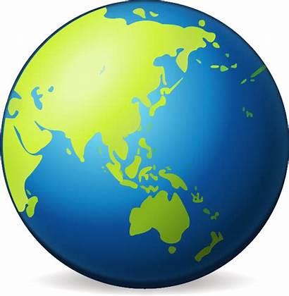 Globe Earth Asia Emoji Clipart Icon Transparent