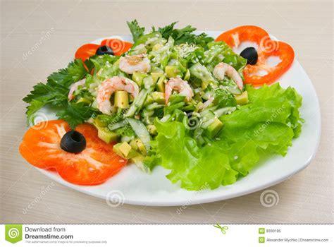 cuisine simple et saine salade simple et saine de crevette photo libre de droits image 8330185