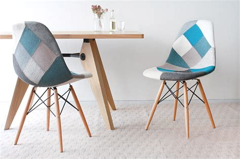Eames Dsw Patchwork Blue Shell Chair
