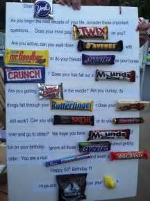 50th Birthday Candy Gram Ideas