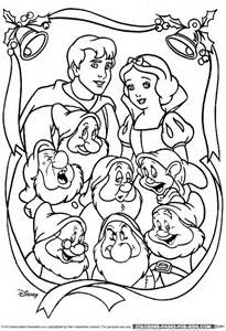 Snow White Disney Christmas Coloring Page
