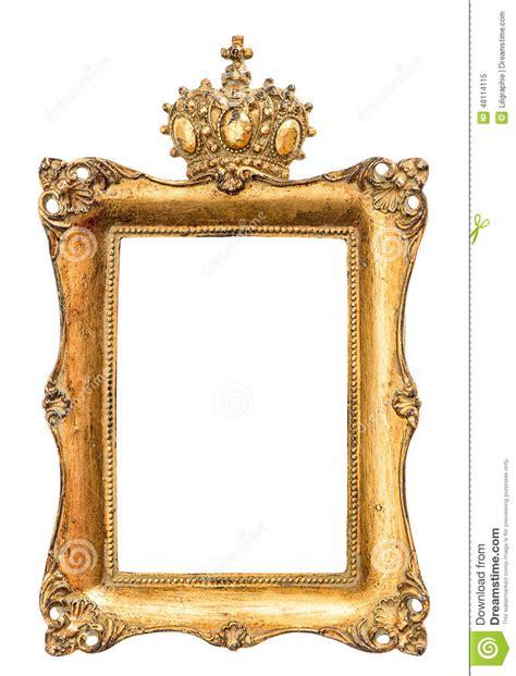 cadre de tableau d or baroque d isolement sur le blanc photo stock image 48114115